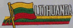 Lithuania Embroidered Flag Patch, style 01.